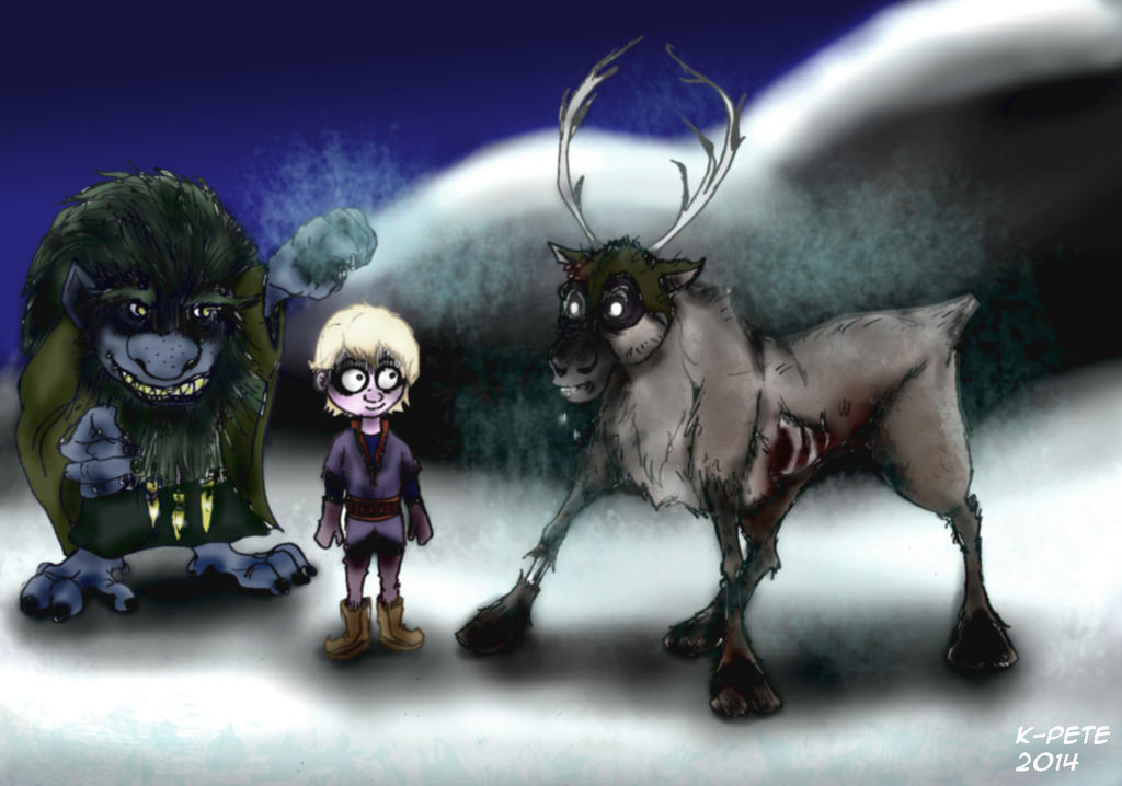 Drawing Of From Frozen Kristoff And Sven: Little Kristoff, Meet Zombie Sven! (BurtonFrozen) By