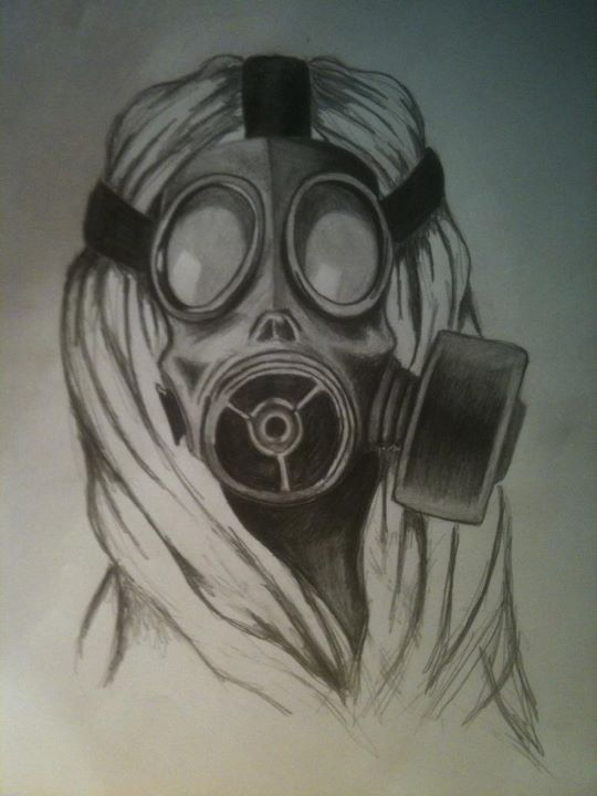 Scary Gas Mask Drawing...