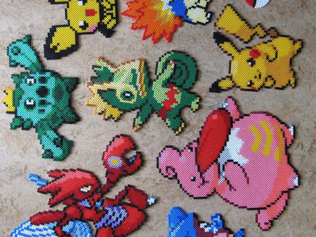 Pokemon bead crafts by pandaphobia on deviantart for Beads for craft projects