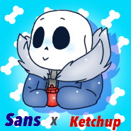 Sans x Ketchup by Cozy-Fluff