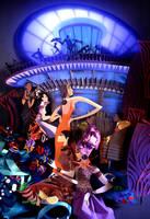 interior of a casino poster