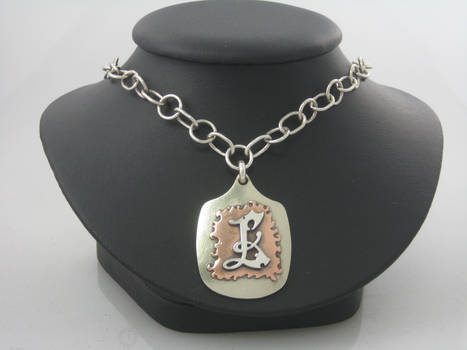 Fabricated L Pendant With