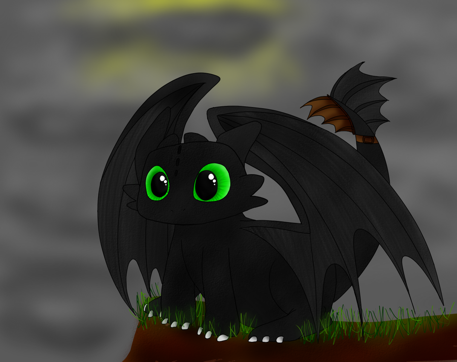 how to draw night fury toothless step by step