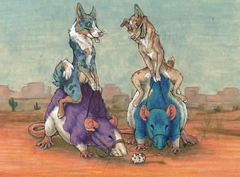 Rat Riders by cricket00fur