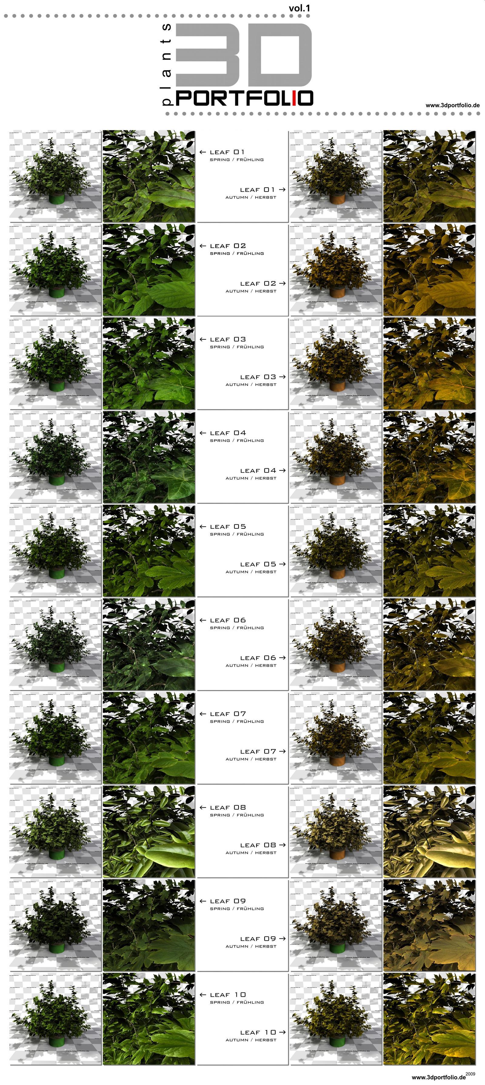 3DPORTFOLIO PlantPack vol.1 by 3DPORTFOLIO