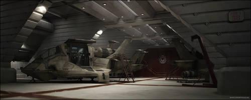 BSG 75 Hangar Bay by 3DPORTFOLIO