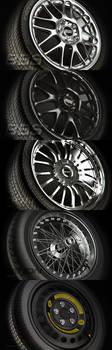 Wheels Rims Tires Vray