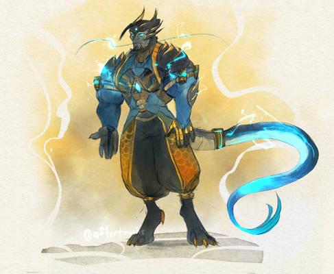 Dragon Deity Hanzo Outfit