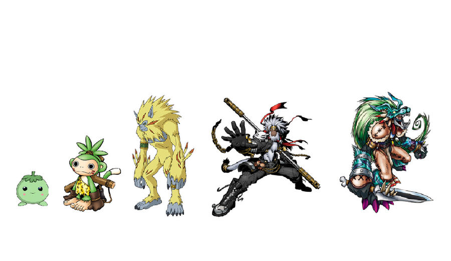 Lunamon Evolution Chart Monmon Evolution by