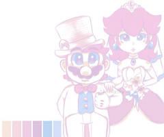 Palette Mario and Peach by TemmieSkyie