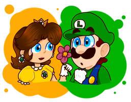 AT : Luigi and Daisy by TemmieSkyie