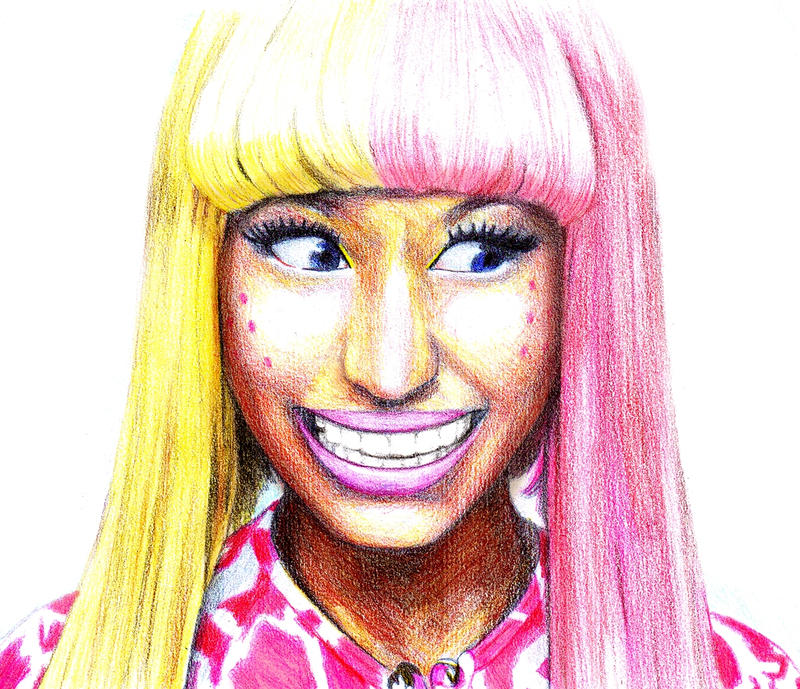 how to draw nicki minaj face