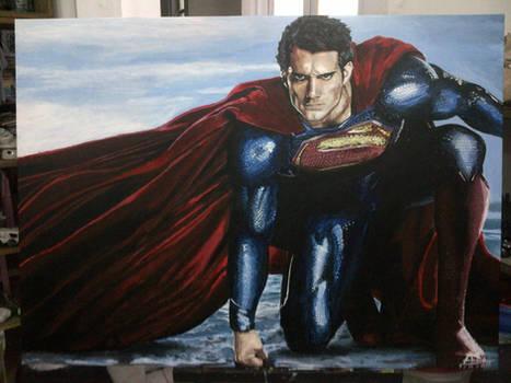 Man of Steel painting