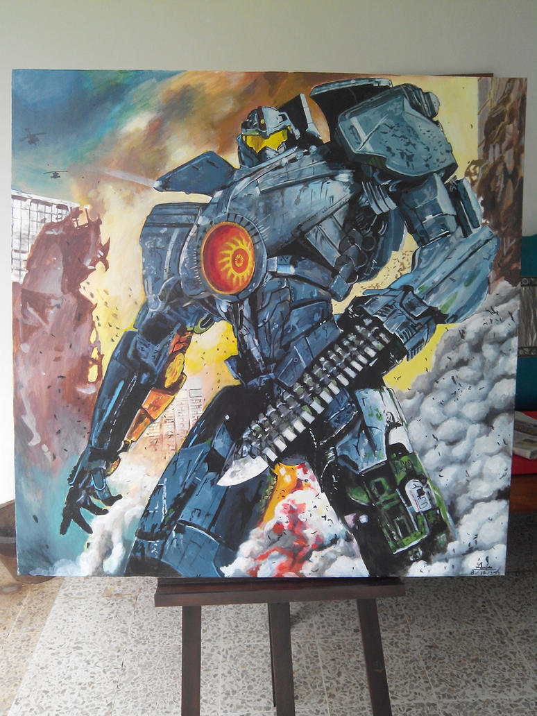 Gypsy Danger painting by Fandias