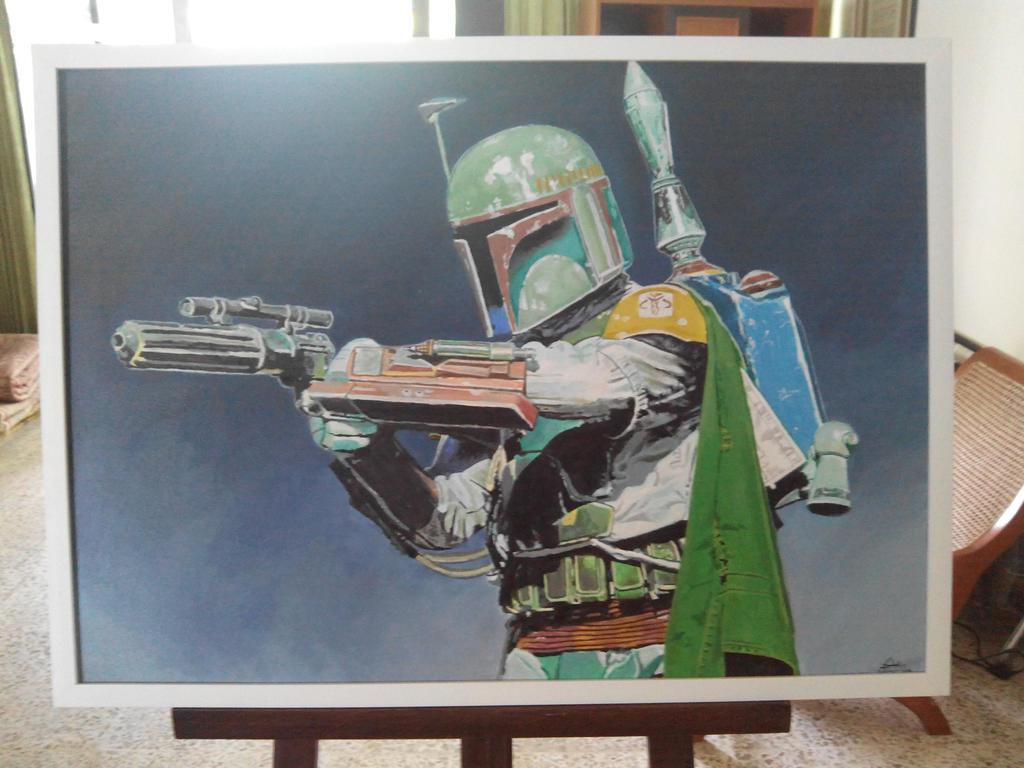 Boba Fett Painting by Fandias