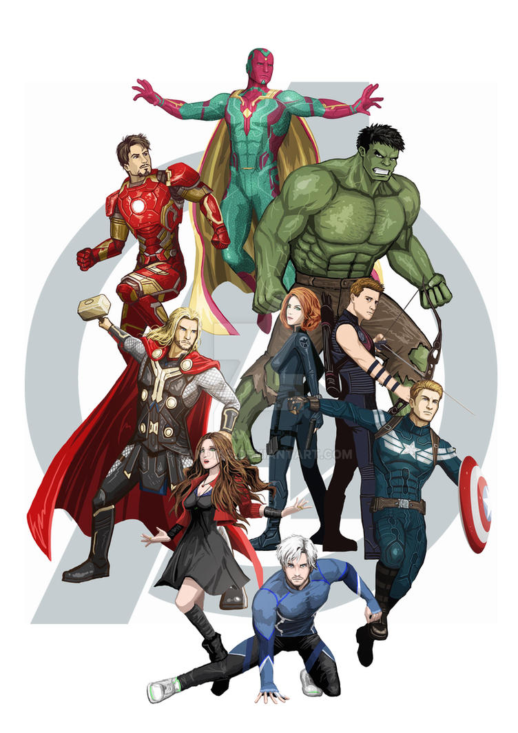 Avengers Age Of Ultron By Iloegbunam On Deviantart: The Avengers By Fandias On DeviantArt