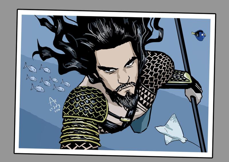 Aquaman Selfie by Fandias