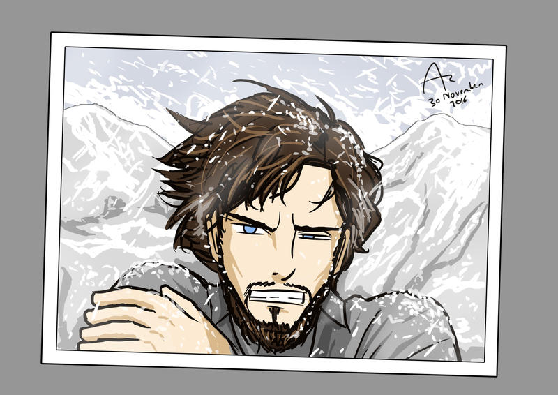 Selfie on Top of the Everest by Fandias
