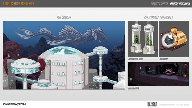 Aquatic Lab Center (Overwatch contest map entry)