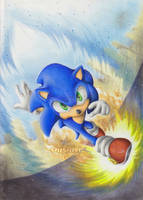 Go Sonic go by Pichu-Chan