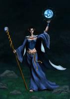 Sebilla, the priestess by Amarazak