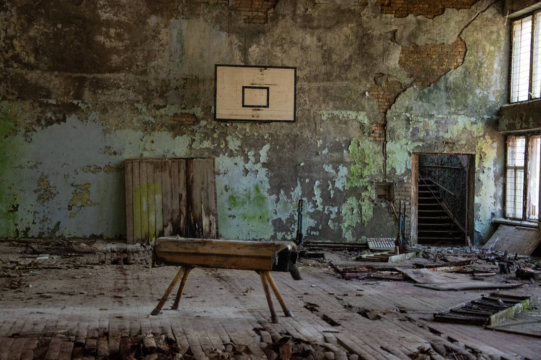 Abandoned Gym Hall by wagneriandandy