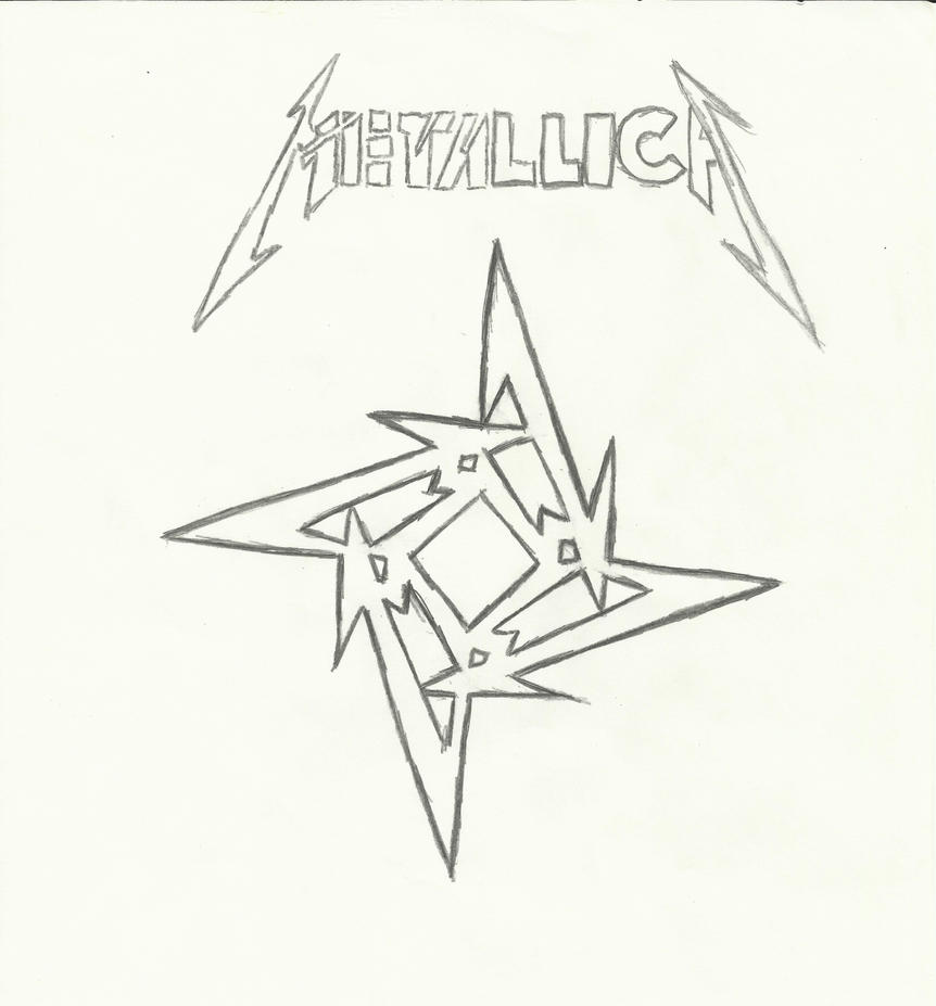 D Line Drawings Logo : Metallica symbol by ernestm on deviantart