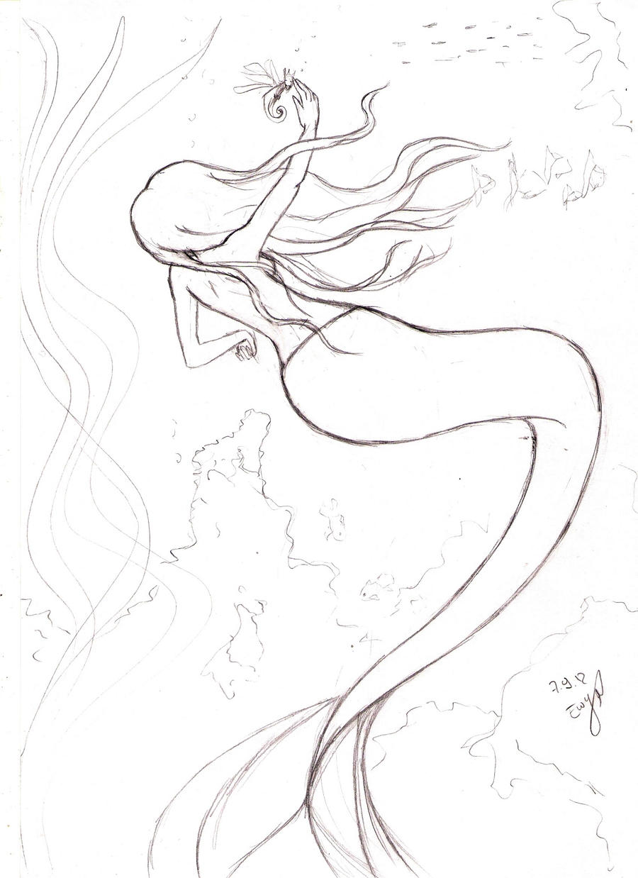The Little Mermaid Sisters Coloring Pages