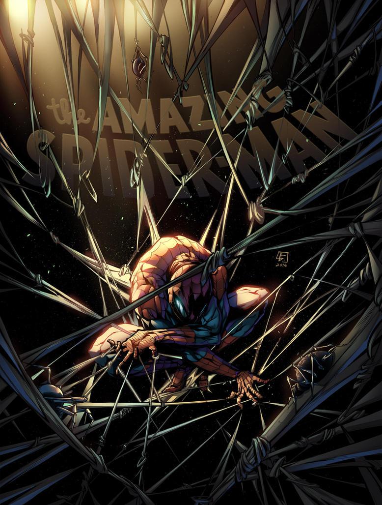 Spider-man color by VinceColors