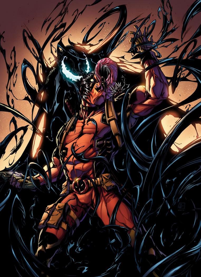 Venom Vs Deadpool Color by VinceColors