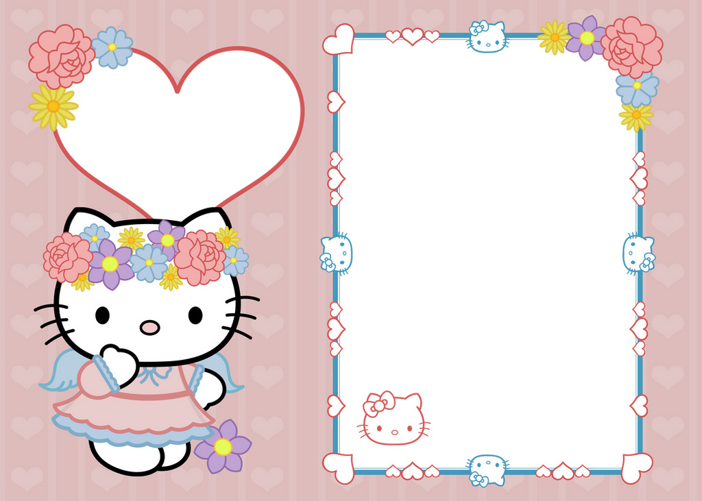 5x7 hello kitty frame copy by digitallygraphic on deviantart