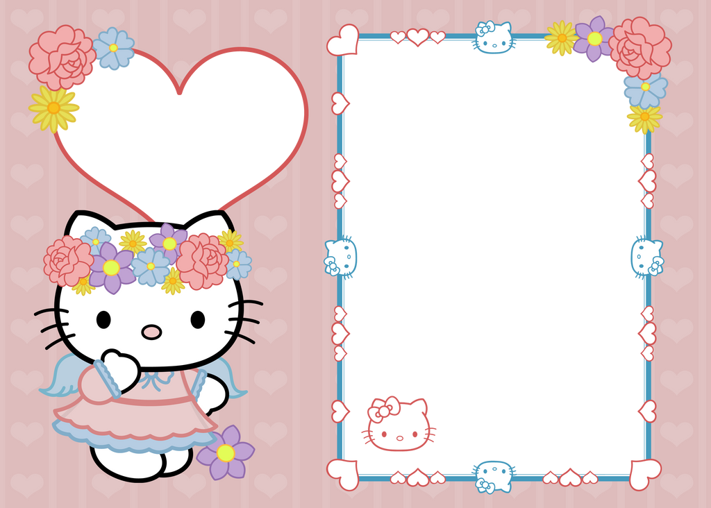0dd8d02fc7768 5x7 Hello Kitty Frame copy by DigitallyGraphic on DeviantArt