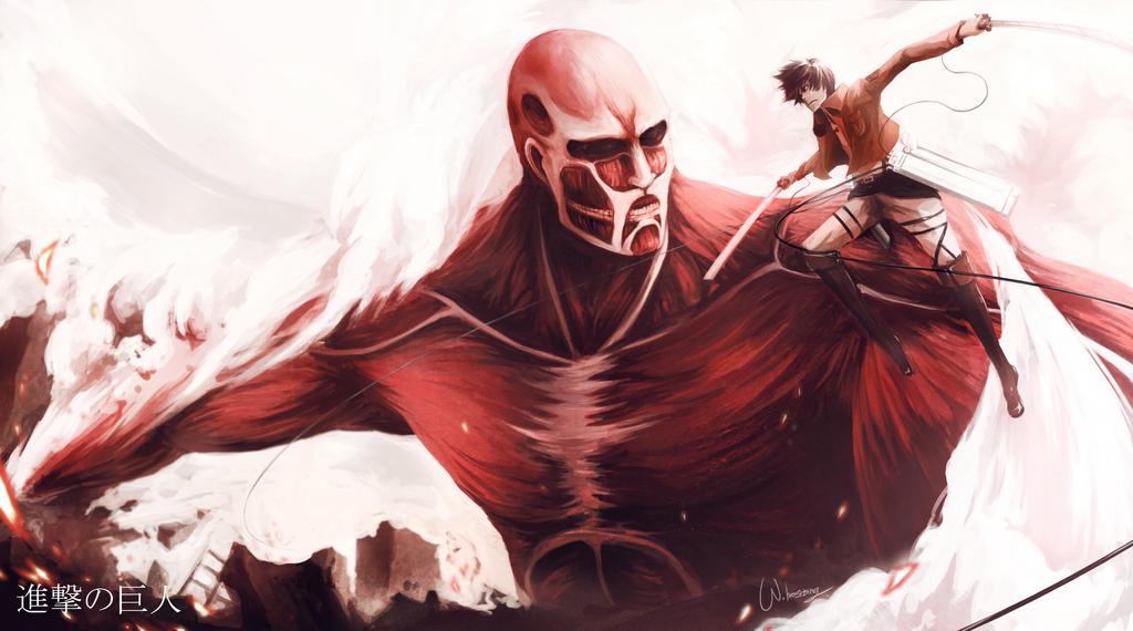 Fanart : attack on titan by W-hosrising