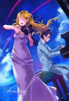 Kaori and Kousei by W-hosrising