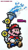 16 Bit Mario Sunshine by hotpinkflamingo