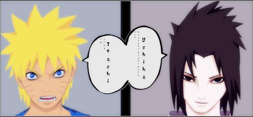 Naruto Sasuke spread page by wishu