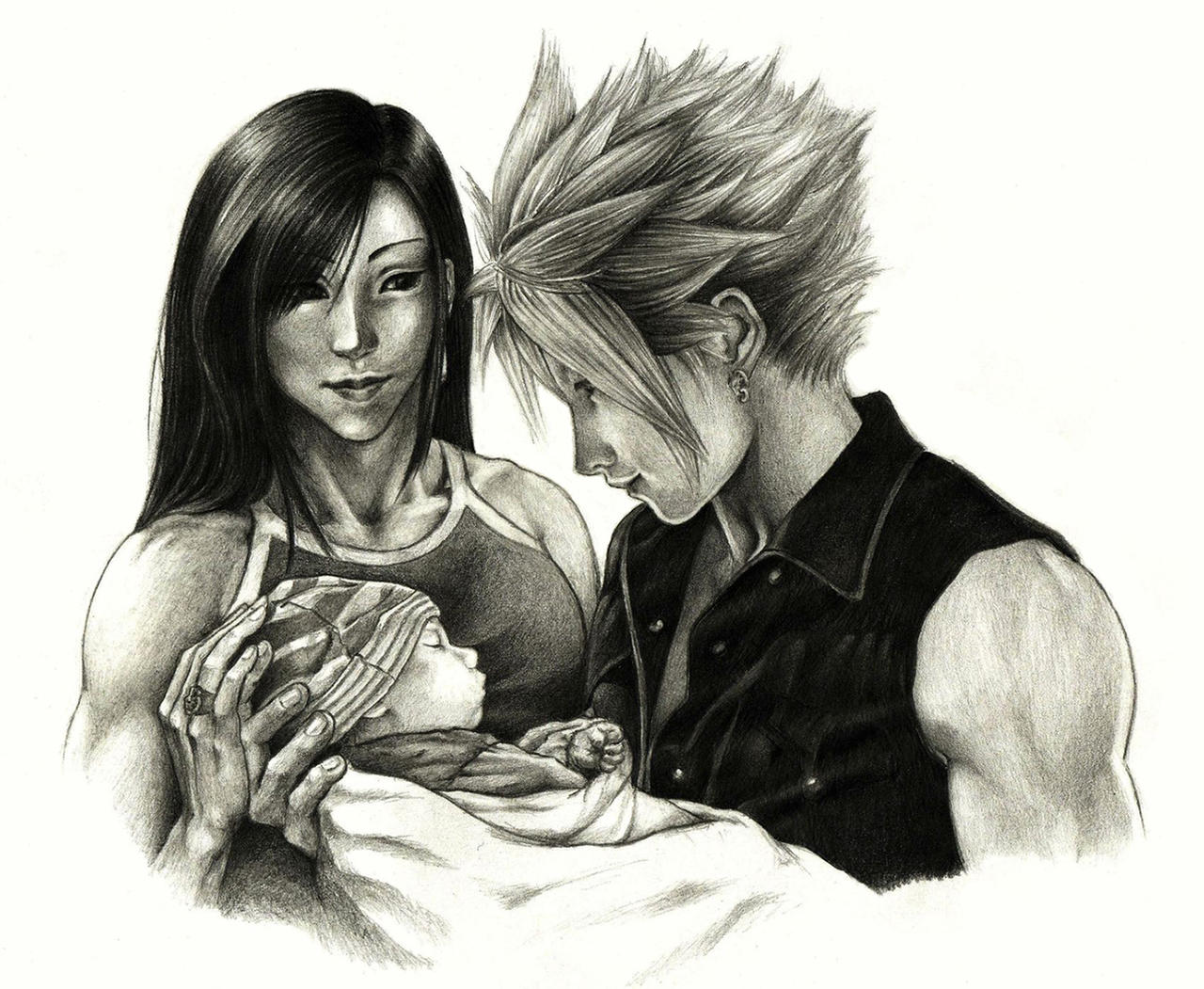 Cloud, Tifa and... by Hikaru135 on DeviantArt  Final Fantasy Cloud And Tifa Fanfiction