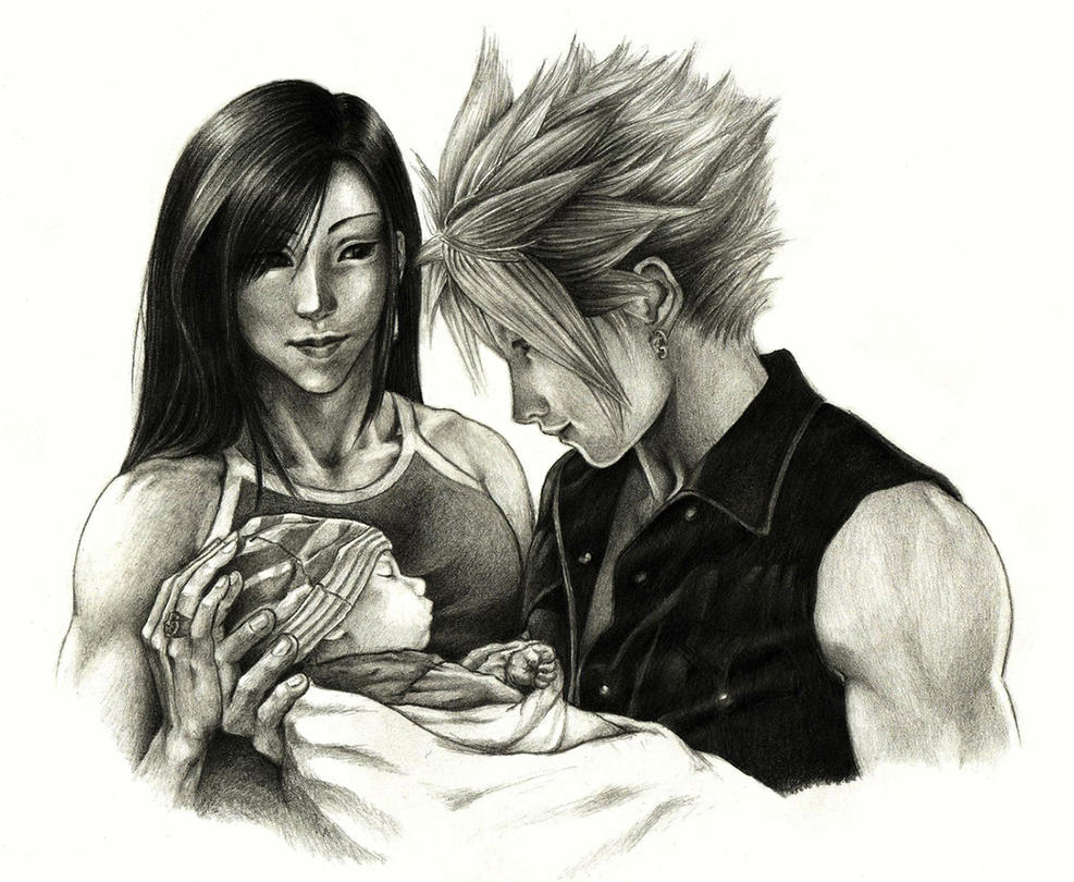 Cloud, Tifa and... by Hikaru135