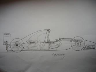 Dessin Nostalgia : FanArt Ferrari, 2009 by WahidSaidi