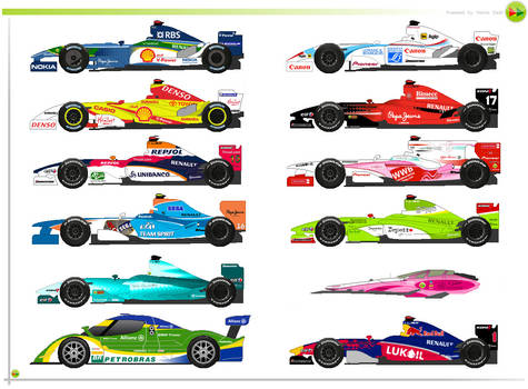 F1 and car's creations, the medley II