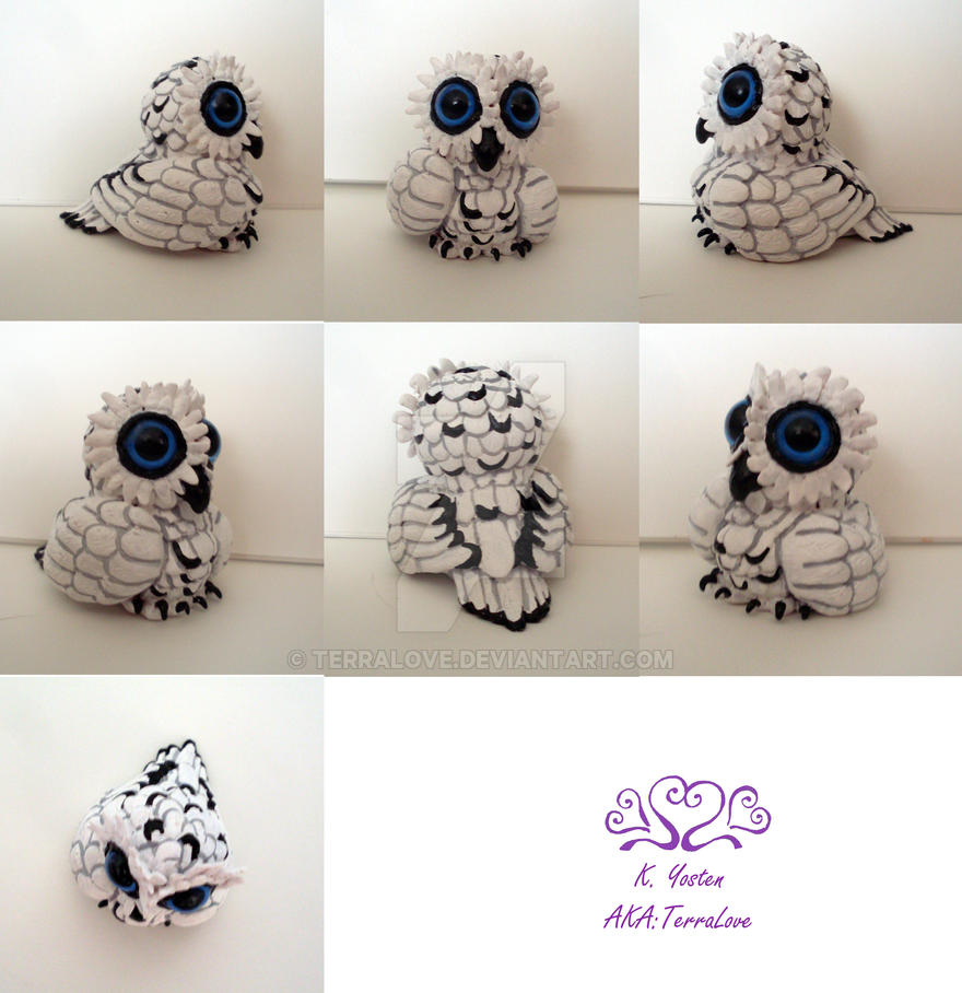Snowy Owlet painted by TerraLove