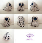 Snowy Owlet painted