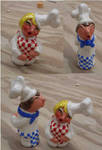 French Chef salt and pepper shaker set