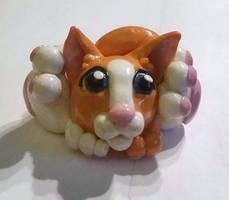 Cute Kitten Ball Figurine by TerraLove