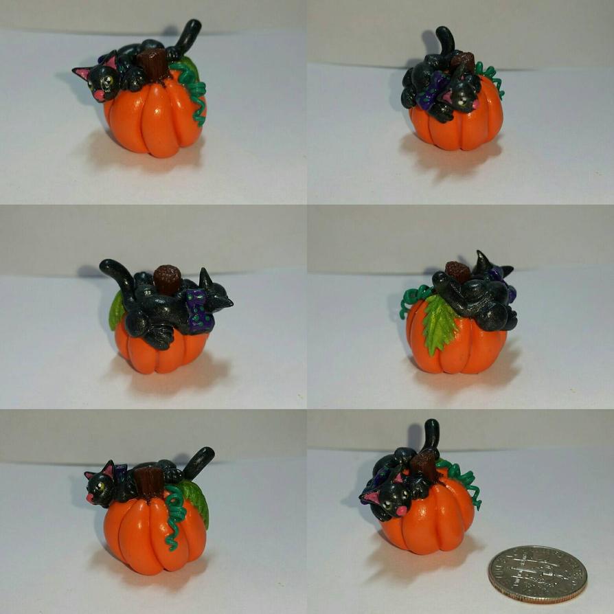 Halloween Pumpkin Kitty by TerraLove