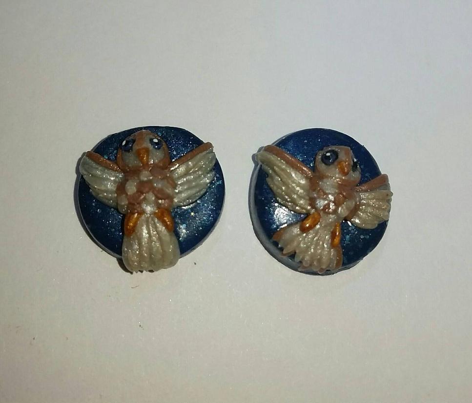 Owl Stud Earrings  by TerraLove