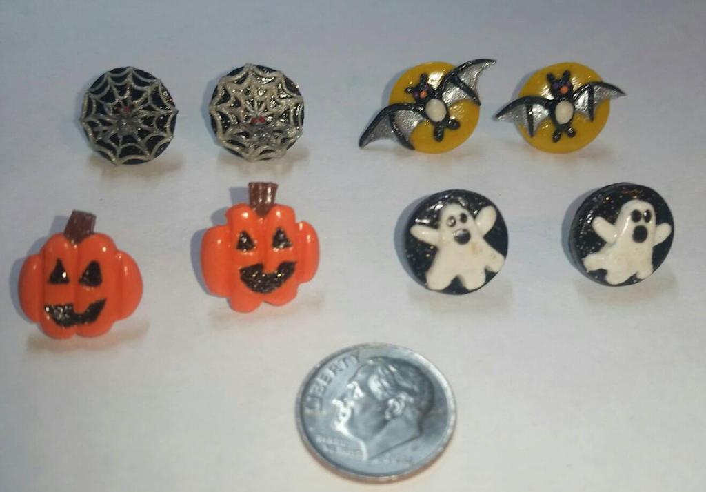 Halloween stud earrings by TerraLove