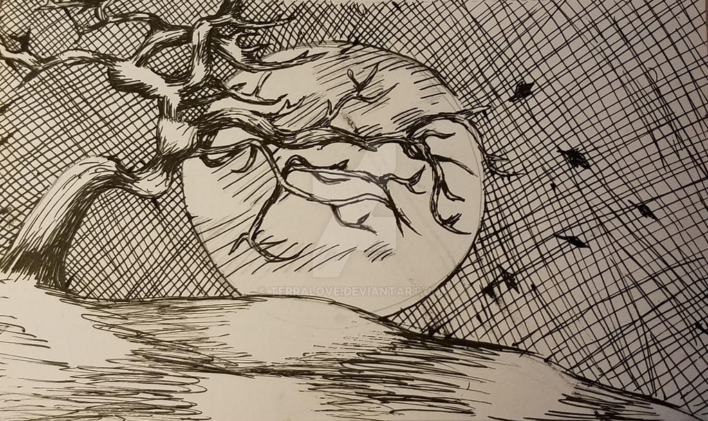 Inktober 2018 Tranquility kw by TerraLove