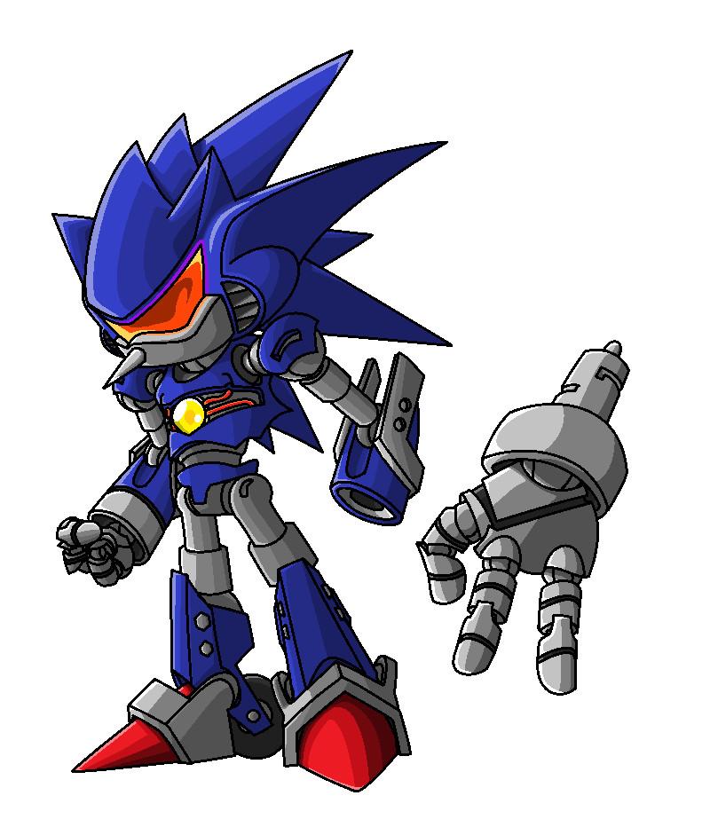 Mecha Sonic concept by Sweecrue
