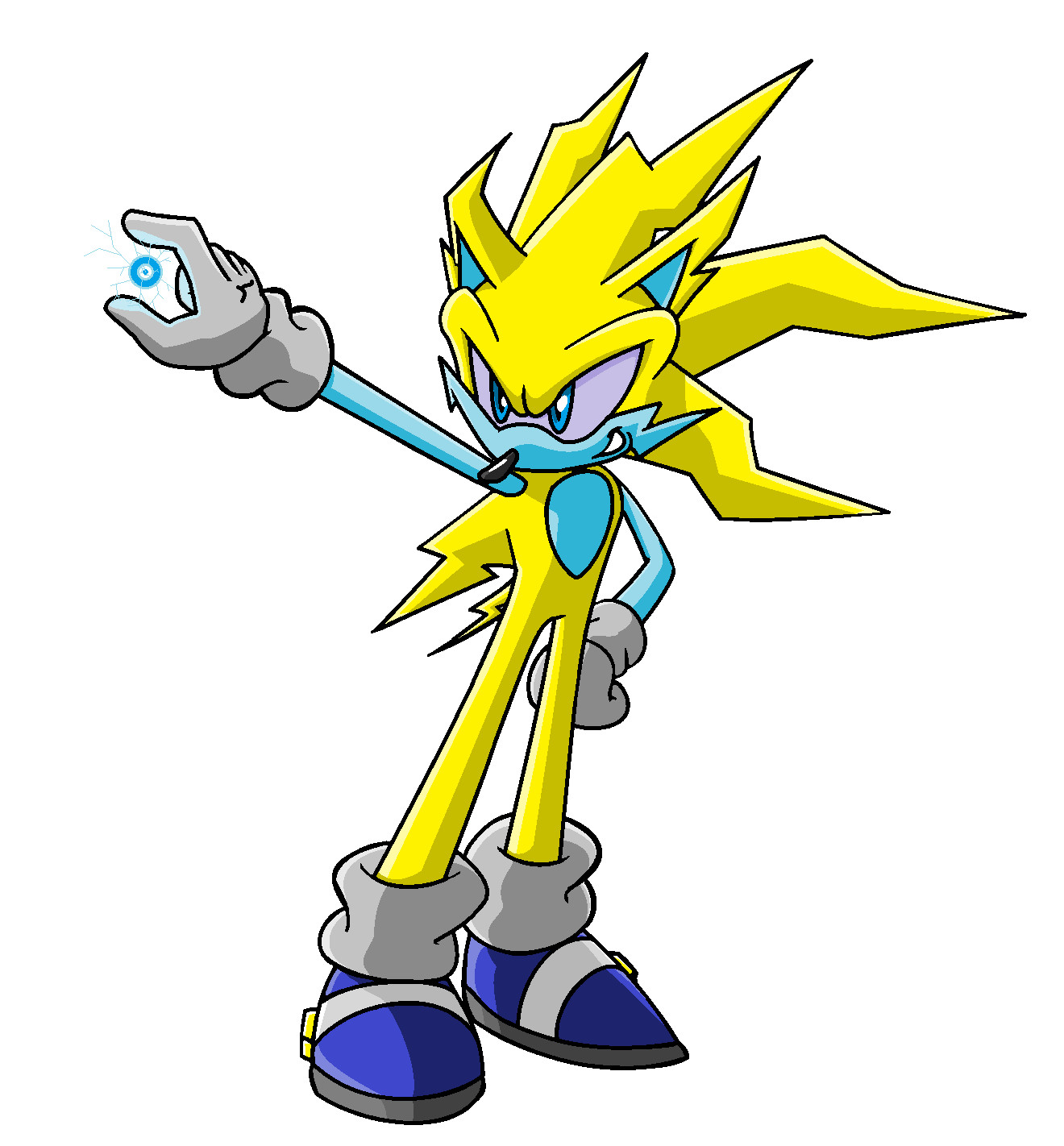 Thunder Sonic Old Version By Sweecrue On Deviantart